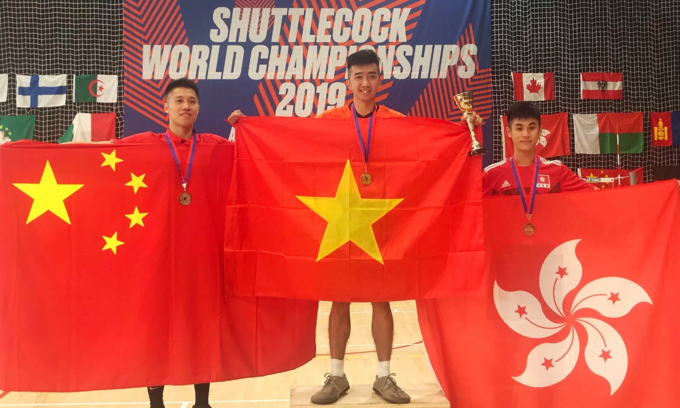Vietnam win two gold medals at foot shuttlecock championship