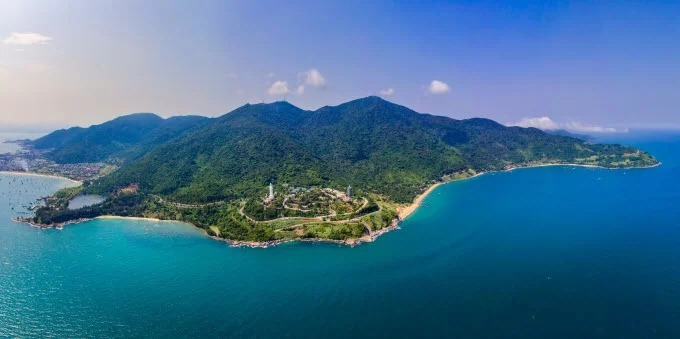 An aerial view of Son Tra Peninsula in Da Nang City. Photo by Shutterstock/Tang Trung Kien