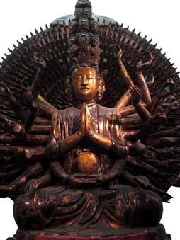 The thousand-armed and thousand-eyed Avalokiteshvara,But Thap Pagoda, Bac Ninh Province, 1656, lacquered wood