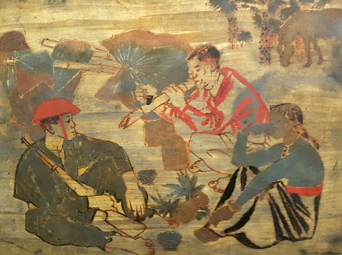 To Ngoc Van, Roadside Break, 1953, lacquer.