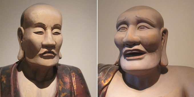 Two Buddhist Saints, Tay Phuong Pagoda, Thach That District, Hanoi, 1794, lacquered wood