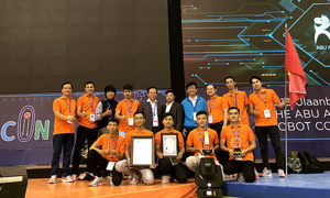 Vietnam finishes third at Asia-Pacific robot contest