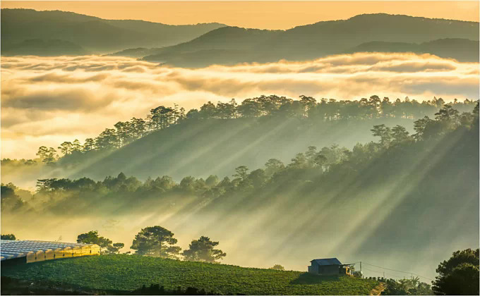 Da Lat was once a summer hideout for French officials during the colonial time who built villas in the hills to escape the heat and humidity of the lowlands. Photo by VnExpress/Tran Quang Anh.