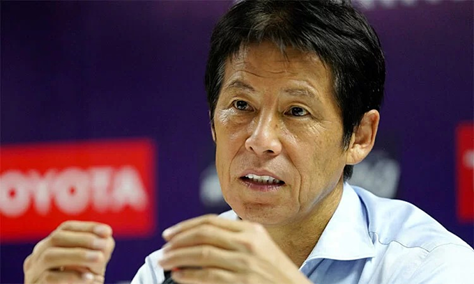 Thailand coach Akira Nishino. Photo by VnExpress/Anh Khoa.