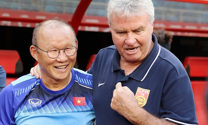 Vietnam's coach Park reunites with ex-boss Hiddink for China friendly