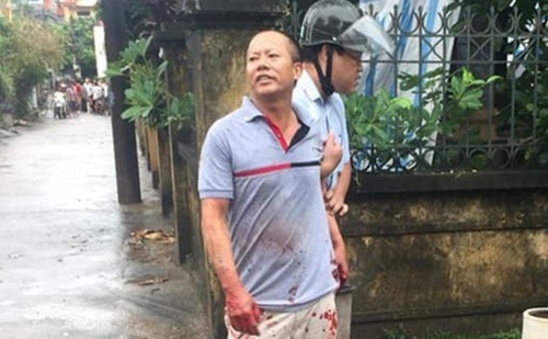 Nguyen Van Dong was arrested for killing four people on September 1, 2019. Photo by VnExpress/Thu Cu.