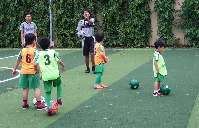 A training session at Amitie football club in Ho Chi Minh City, August 2019. Photo by Dennis Khng.