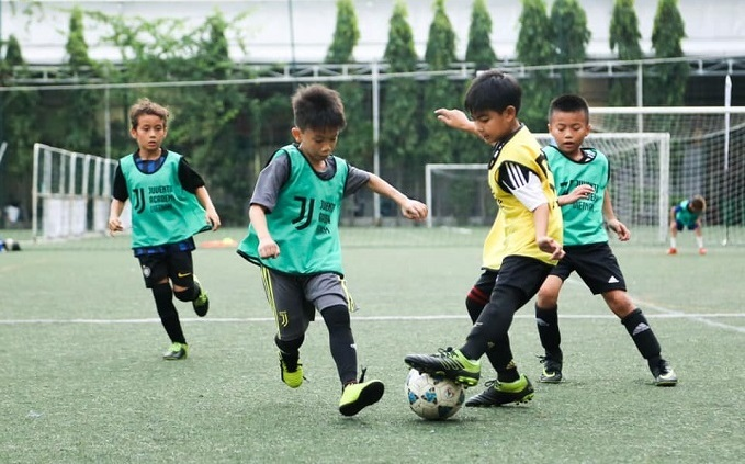 Boys train with Juventus Academy Vietnam in Ho Chi Minh City, July 2019. Photo courtesy of Juventus Academy Vietnam.