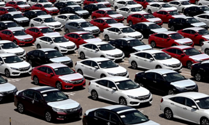 Car imports from China crash