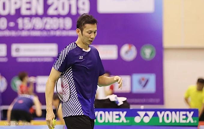 Vietnams badminton star Nguyen Tien Minh at the Vietnam Open BWF Tour Super 100 2019. Photo VnExpress/Duc Dong.