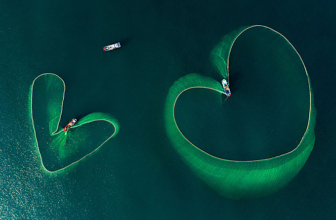 The heart on the sea. Photo by AGORA/Phan Nguyen.