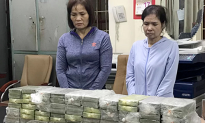 Three women caught transporting, trading 26kg of heroin
