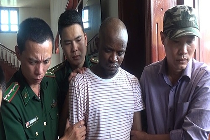 Omeje Jonson, 20, another Nigerian citizen was arrested for being part of an international drug trafficking scheme on September 20, 2019. Photo by Manh Hung