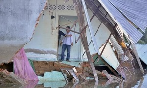 Erosion eats away at HCMC land mass