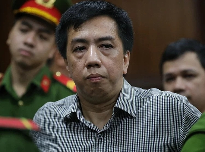 Vo Manh Cuong, the director of H&S shipping company at the court in HCMC on Tuesday. Photo by VnExpress/Huu Khoa