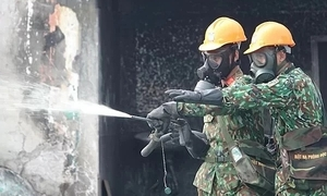Army completes mercury cleanup at burned Hanoi light bulb warehouse