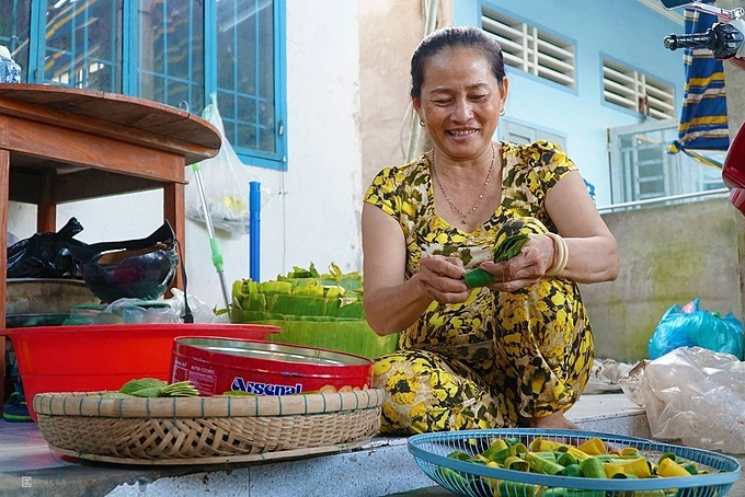 Nguyen Thi Bay, 52 said that she started working at her husband's family's garden nursery 27 years ago. There is no season in this job, we plant all year round. My husbands family has been doing this for three generations, she said.