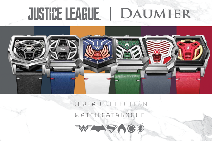 Original limited edition superhero watches are a big draw among fans.