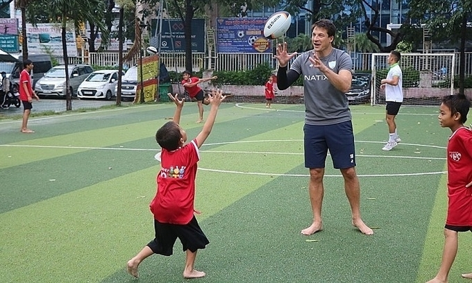 Vietnamese-origin rugby star comes visiting