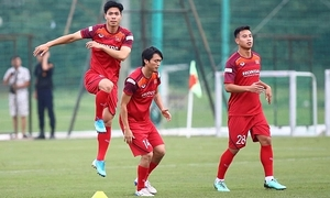 Vietnamese players prepare for World Cup qualification match against Malaysia