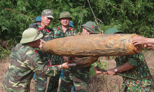 Vietnamese military finds two unexploded bombs