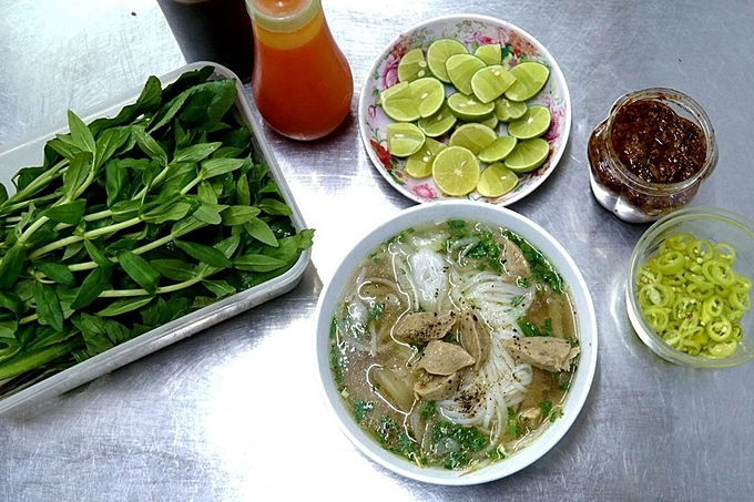 A bowl of pho in Saigon. Photo by VnExpress/Phong Vinh.