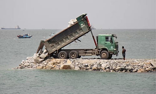 Vietnam beach town encroaches sea for $50 mln tourism complex