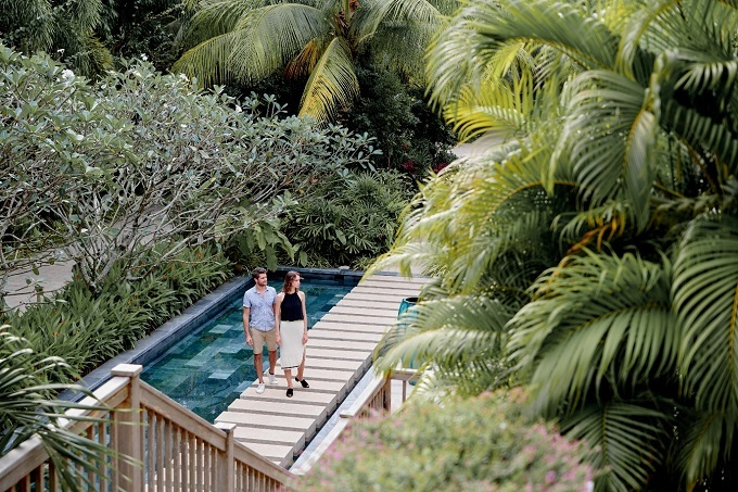 The resort has a lush green landscape with 70 percent of its area covered by trees and flowers.