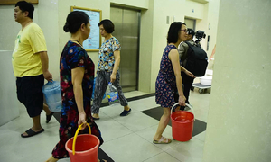Water company cuts supply to parts of Hanoi after oil contamination