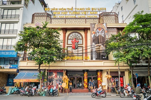 The Vietnam Tuong Theatre at 51A Duong Thanh Street, Hoan Kiem District, Hanoi.