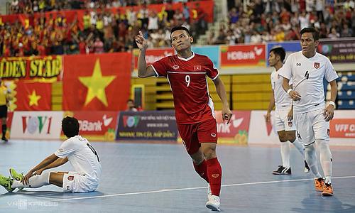 Vietnam advance to Asian futsal championship after Myanmar victory