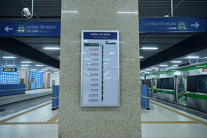 Signs have been installed in Vietnamese and English to assist commuters, along with a loud speaker system.
