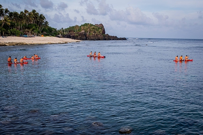 Kayaking is also a popular activity on this small islet.