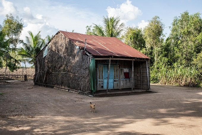 An abandoned house in Kien Giang Province July 2019. Its owners have left to work at a factory in Binh Duong Province neighboring Ho Chi Minh City as the conditions at home have become too harsh for farming.