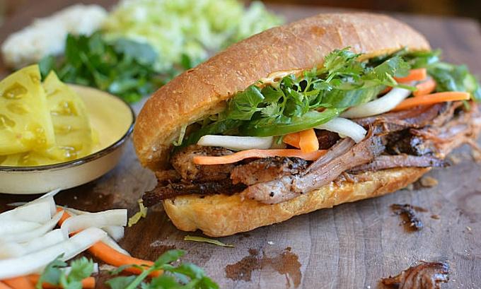Banh mi, the Vietnamese sandwich. Photo by Shutterstock/Andrea Nguyen.