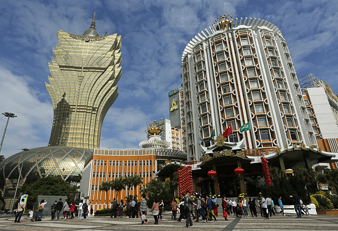 Macau is famous as the gambling hub of Asia. Photo by AFP.