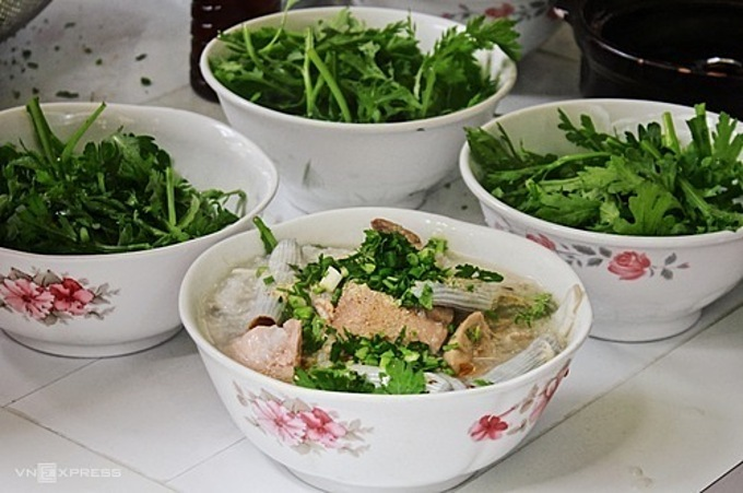 A bowl of porridge costs VND50,000-70,000 ($2.2-3).