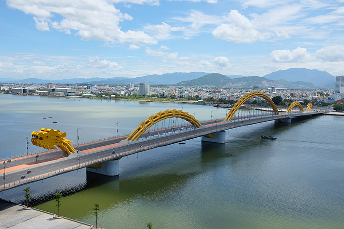 The Dragon Bridge is a symbol of Da Nang City. Photo by Shutterstock/Viet Anh.
