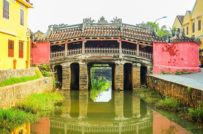The Pagoda Bridge is a famous tourist attraction in Hoi An. Photo by VnExpress/Nick M.