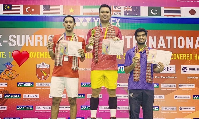 Vietnamese wins men's crown at Nepal international badminton tournament
