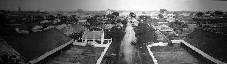 Full view of the Hanoi Citadel from the East Gate in 1873.