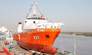 Vietnam introduces first submarine rescue vessel