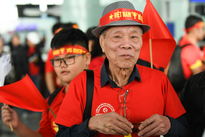 Vu Van Chung, 83, is among the oldest to go cheer for the team in the Philippines. He expects a gold medal for Vietnam, he said.