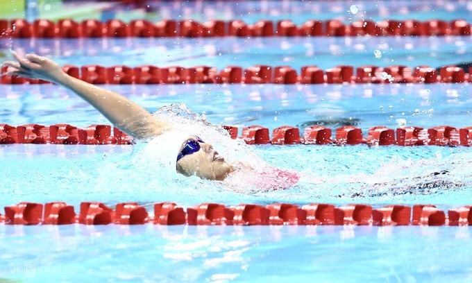 Vietnamese swimmer in line for SEA Games award after winning six gold medals