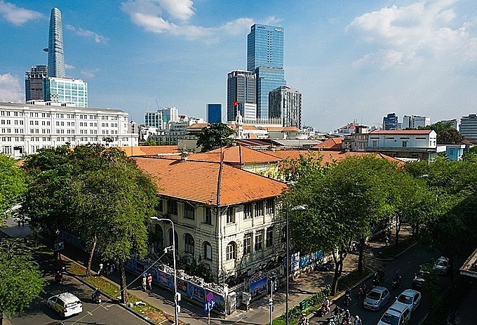 The 130-year-old building is the second oldest in Saigon. Photo by VnExpress/Quynh Tran.