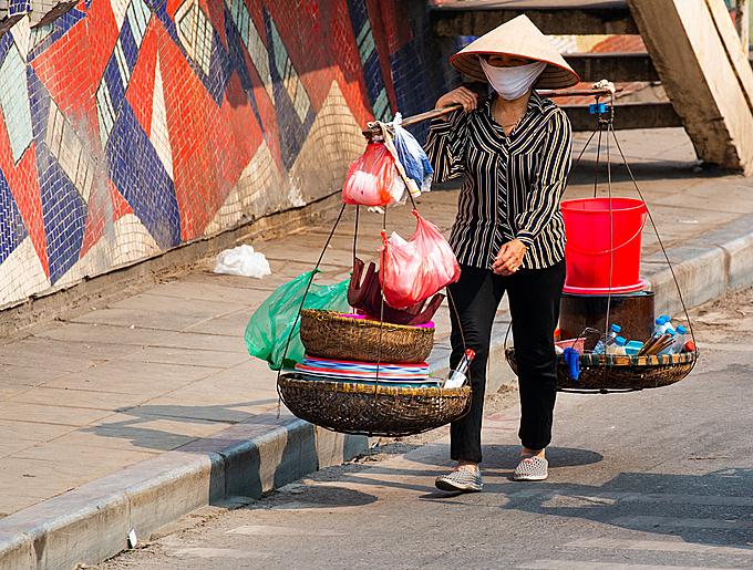 A street vendor in Hanoi. Photo by Shuttlestock/Cesare Palma.