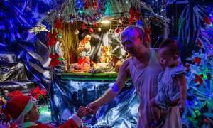 Christmas spirit pervades Saigon alleys
