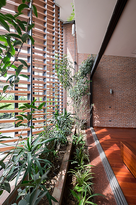 Creating a lot of green spaces inside, the architect maintains that the house is a haven for homeowners to again stay in a safe place and live harmoniously with the environment.