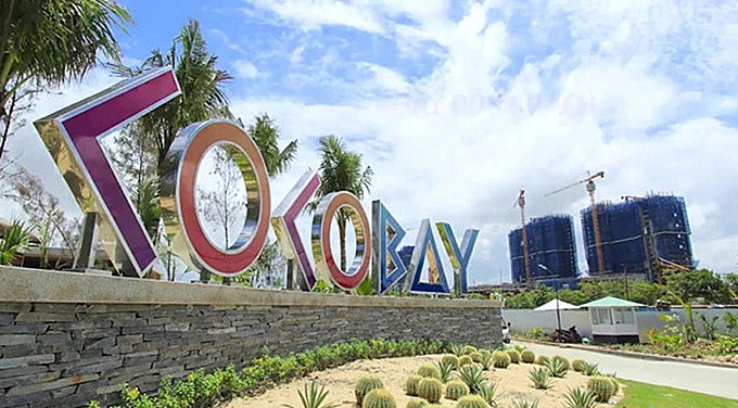 The front entrance to Cocobay condotel complex in Da Nang. Photo courtesy of Empire Group.