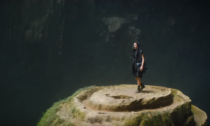 Son Doong cave decked out in Alan Walker's trailer